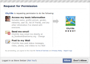 Facebook App Request Permission