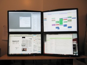 Quad displays with four monitors to one PC