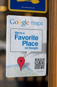 google places qr tag sign